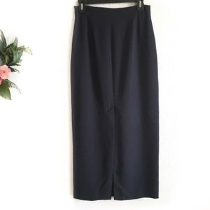 Liz Claiborne navy blue 3/4 length pencil skirt